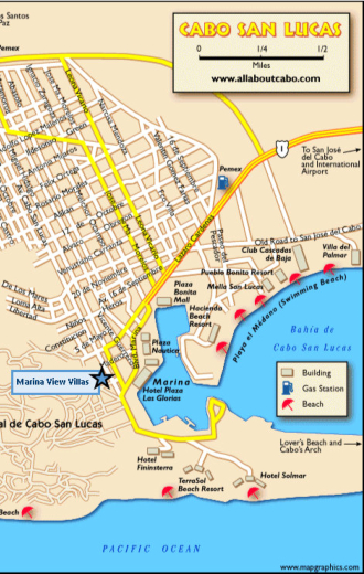 Map of Marina View in Cabo San Lucas